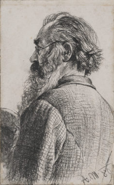 Bearded Man Seen from the Rear