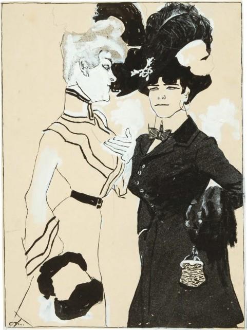 Deutsche Karikaturen um 1900