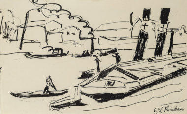 Ernst Ludwig Kirchner - Elbdampfer - Kähne