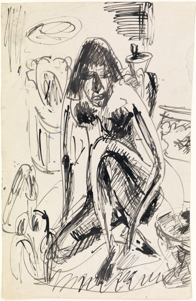 Seated Woman in Tub