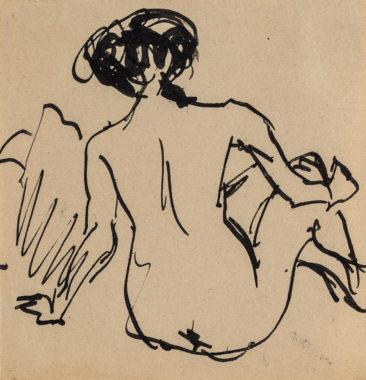 Ernst Ludwig Kirchner - Sitzender Weiblicher Akt (Dodo)