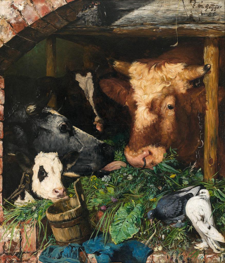 Ernst Moritz Geyger - Viehfütterung