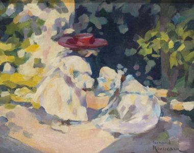 Fernand Rousseau - Spielende Kinder