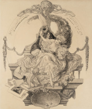 Franz von Bayros - Exlibris Geheimrat Lichtenberg
