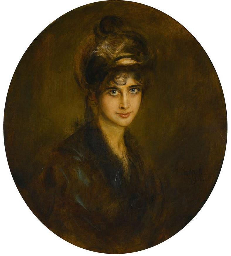 Franz von Lenbach - Portrait Lydia Feez
