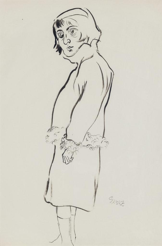 George Grosz - Frau mit pelzverbrämter Jacke