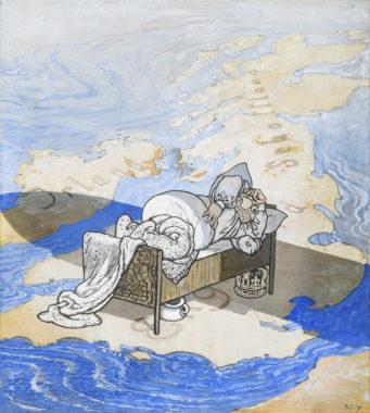 Heinrich Kley - Zeppelins Schatten