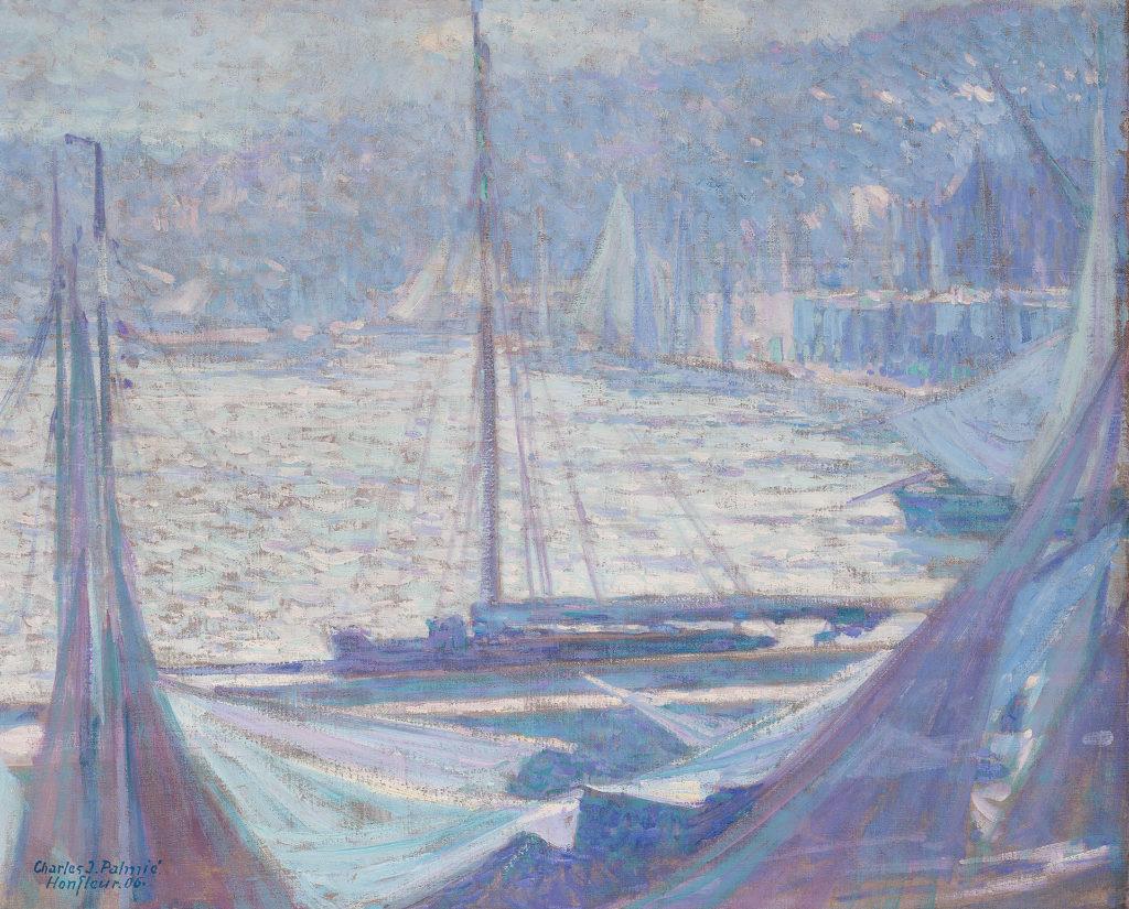 Johann Charles Palmié - Morgenstimmung im Hafen von Honfleur