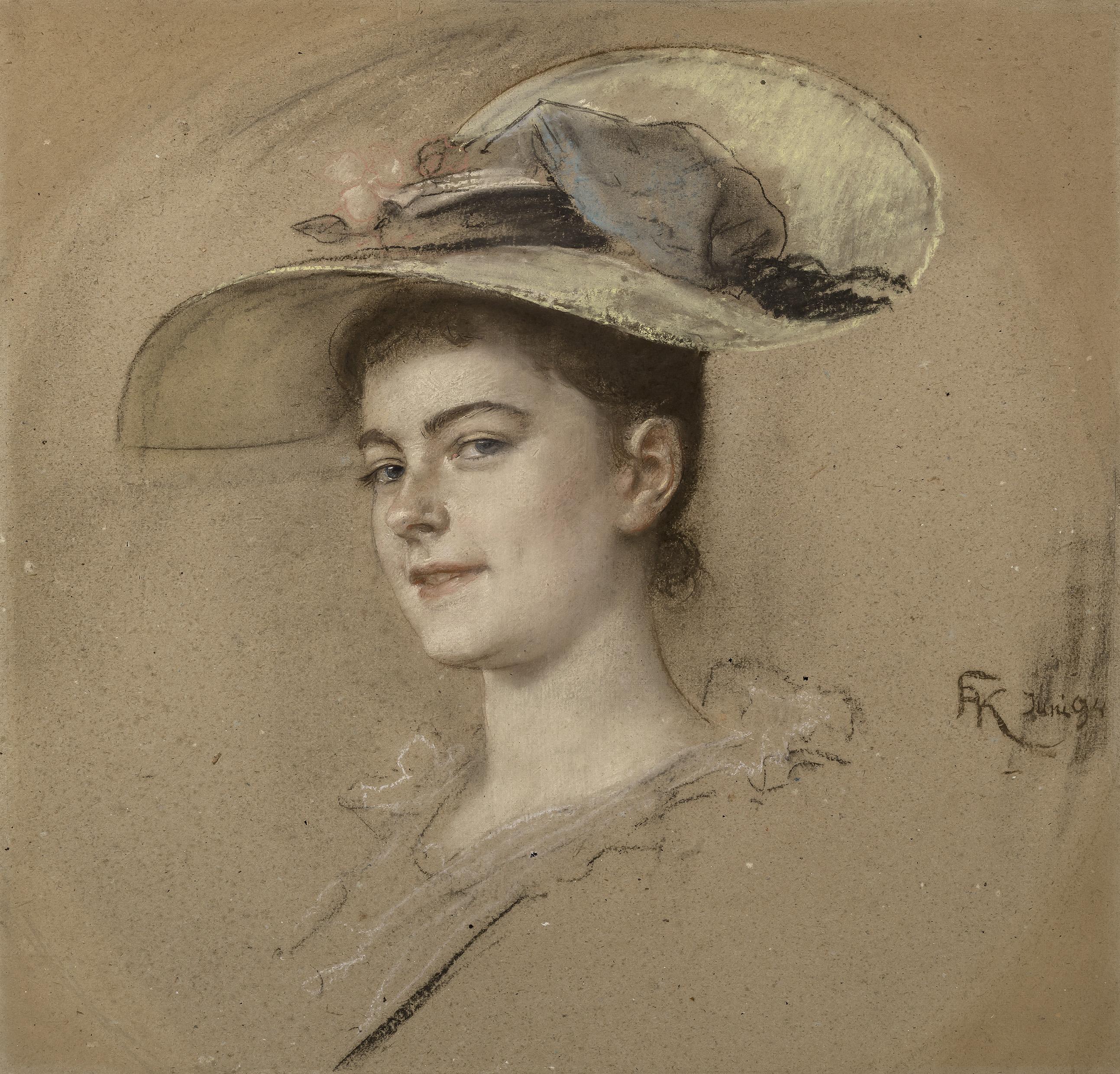 Kaulbach Friedrich August von - Porträt Gretel Lahmeyer