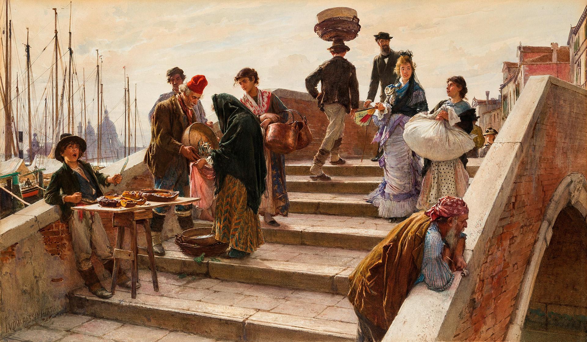 Ludwig Passini - Eine Brücke in Venedig