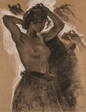Half-Figure of a Female Semi-Nude
