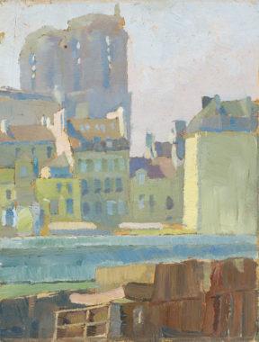 Lyonel Feininger - Die Türme von Notre Dame in Paris
