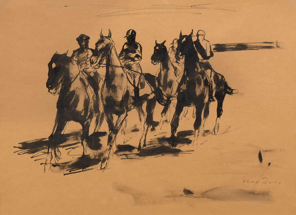 Group of Equestrians