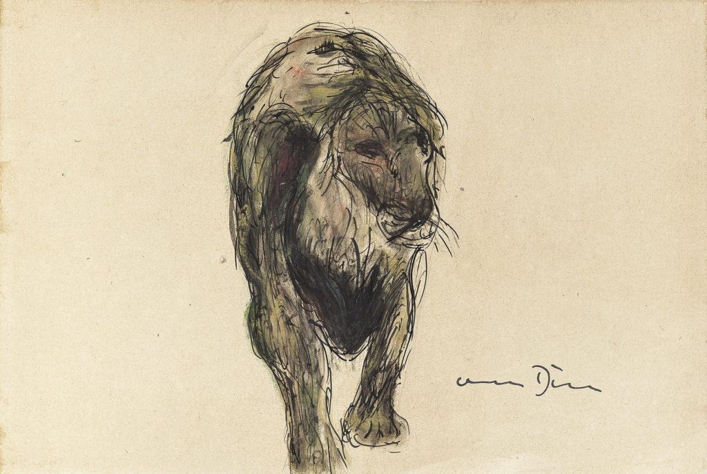 Otto Dill - Schreitender Löwe