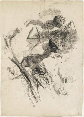 Otto Greiner - Fliehender Faun