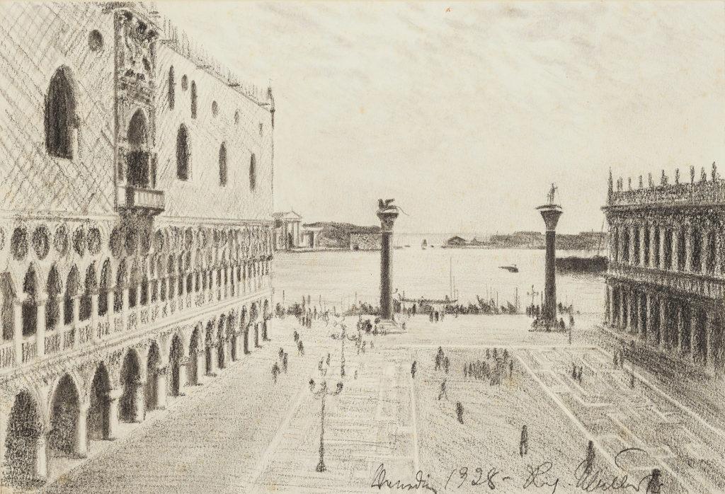 Richard Müller - Der Markusplatz in Venedig