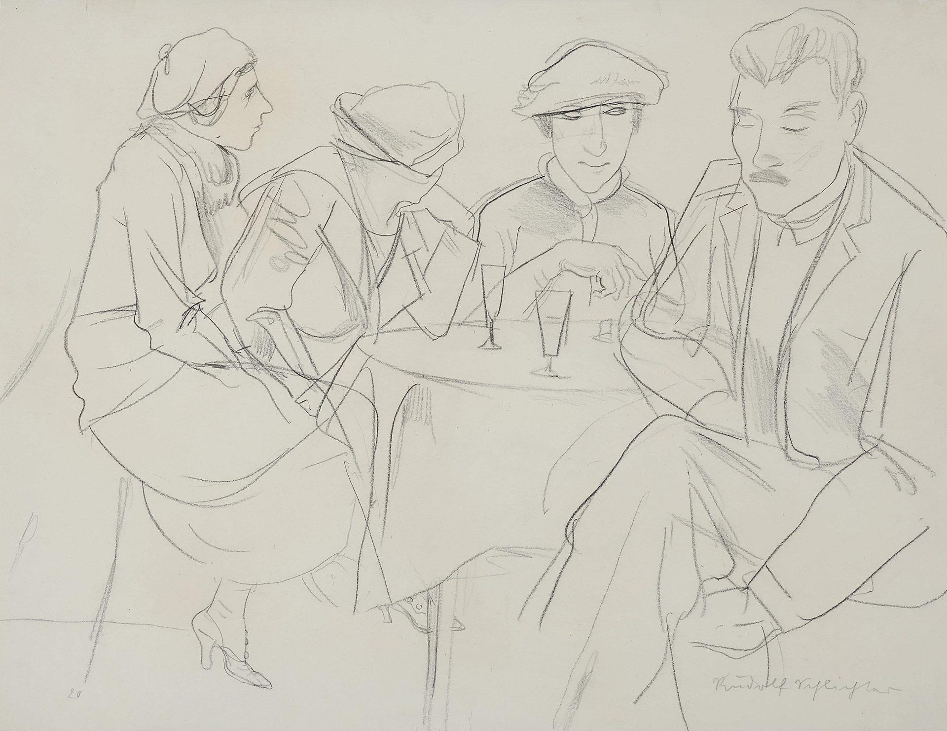 Rudolf Schlichter - Im Kaffeehaus